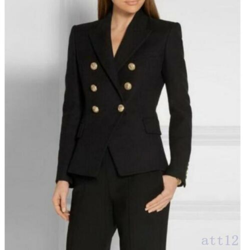 femmes a La mode de le de inspiré de d'or boutonnage chaud de des blazer bureau double boutons manteau nouveau q1tEqCwW