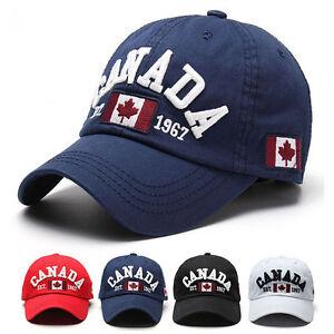 afd2a3883df Men s Canada Flag Baseball Cap Adjustable Snapback Golf Hip-hop Hat ...