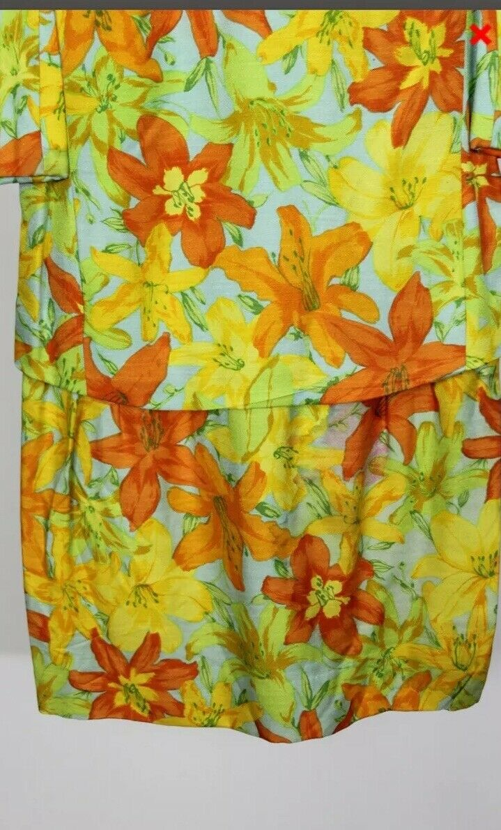 Scaasi Boutique Ruth Roaman Vintage1960s  Bold Fl… - image 5