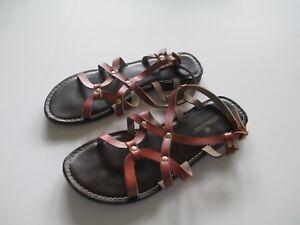 4165adb54 Montego Bay Club Sandals Beach Shoes Flat Size 7 Brown Casual Free ...