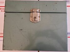 "Vintage Metal File Box Travel 10"" Tall Porta-File Hamilton Skotch Kooler Retro"