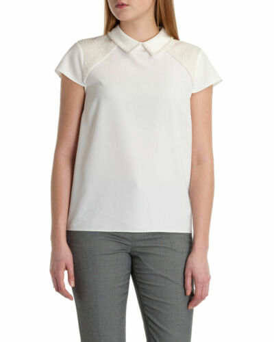 SOLD OUT ! AUTH TED BAKER OSSTER Pearl embellish top Cream Sz 4