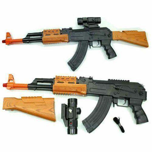Bambini Esercito forza FUCILE D/'ASSALTO AK-47 PISTOLA GIOCATTOLO SWAT LUCE SUONO E VIBRAZIONE 85cms