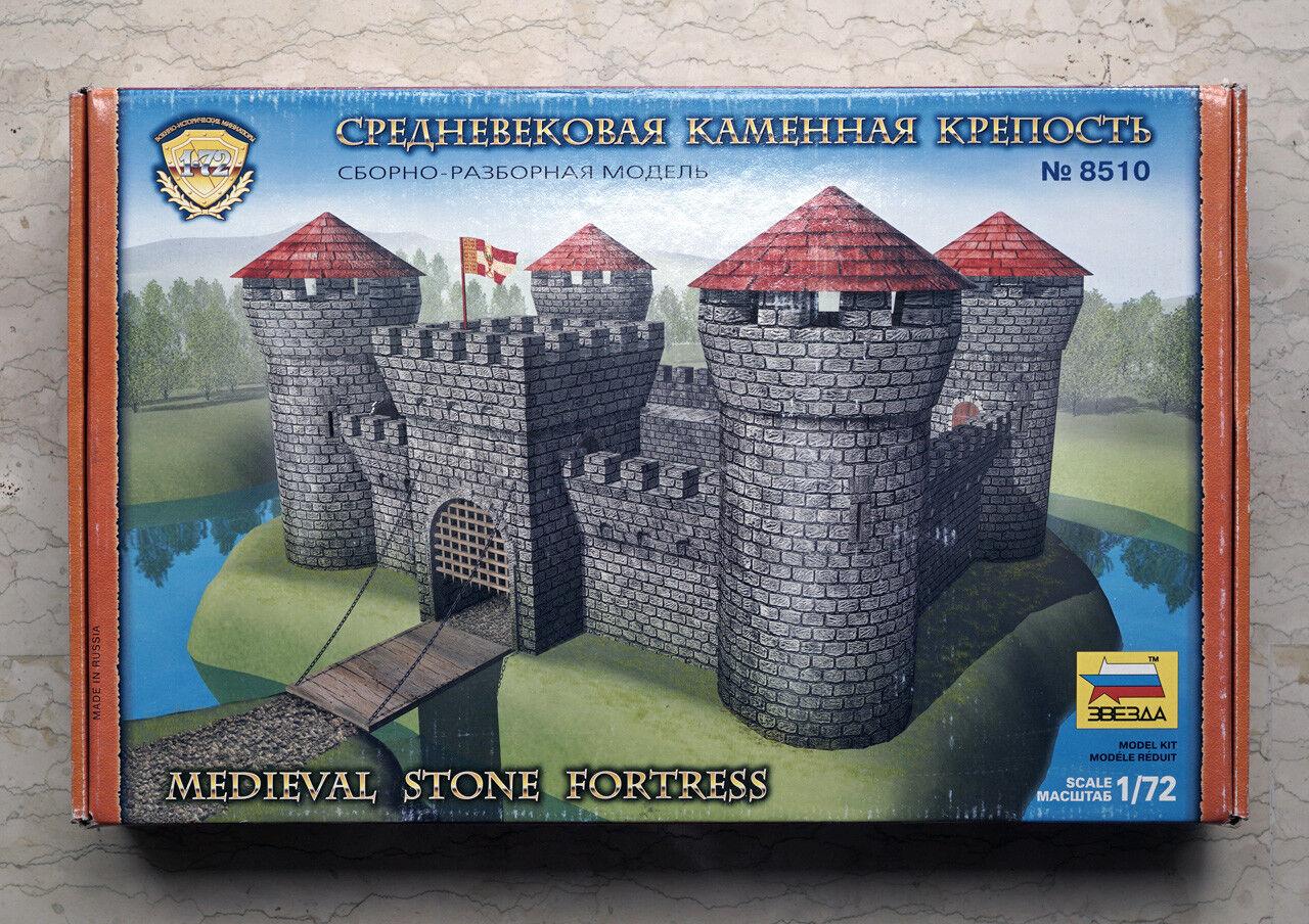 ZVEZDA 8510  1 72 KIT MEDIEVAL STONE FORTRESS , NEW NUE