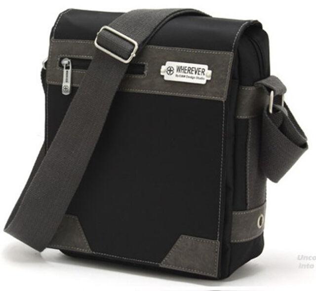 Waterproof Men's Practical Travel Shoulder Bag Message Bags Casual Black-MM41