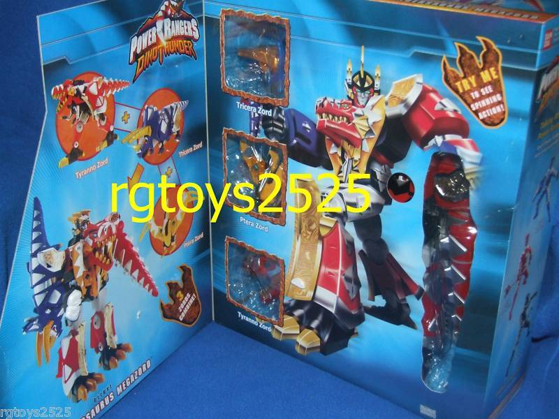 Power Rangers Dino Thunder Deluxe Thundersaurus Megazord New Factory Sealed 2003