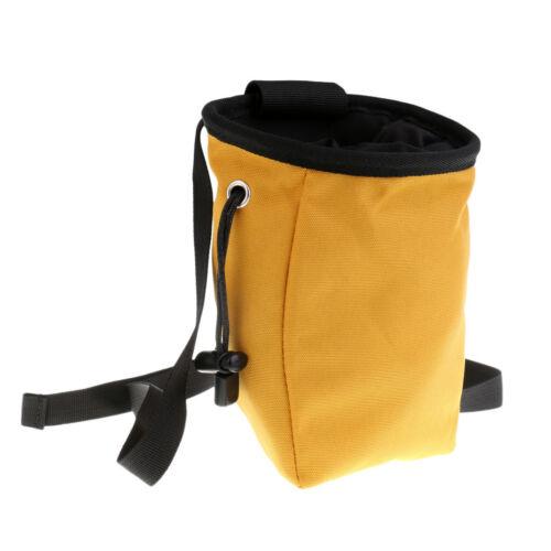 Mountain Rock Climbing Caving Magnesium Powder Chalk Bag /& Waist Belt Yellow