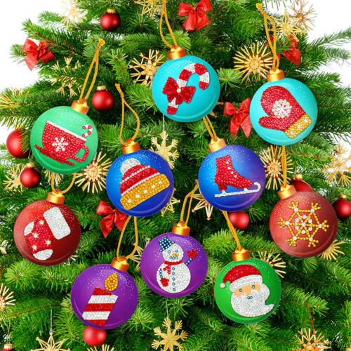 Xmas Ornament 5D Diamond Painting Christmas Tree Pendant Cross Stitch