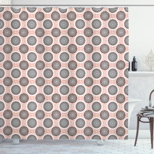 Details about  /Peach Shower Curtain Abstract Soft Circles Print for Bathroom