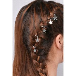 5pcs-Star-Hair-Braid-Rings-Hair-Clips-Hair-Charms-Pendant-Rings-Hair-Rings-Clip