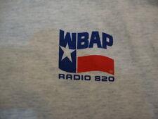 Vintage WBAP Radio 820 Music Entertainment Exercise Jogging Grey Men's T Shirt L