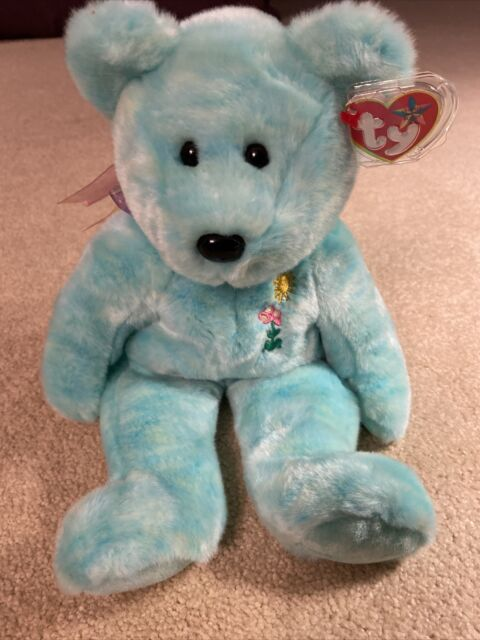Ariel Retired 2000 Ty Beanie Babie 8in Flower Bear 3 up Boys Girls 4288 for sale online