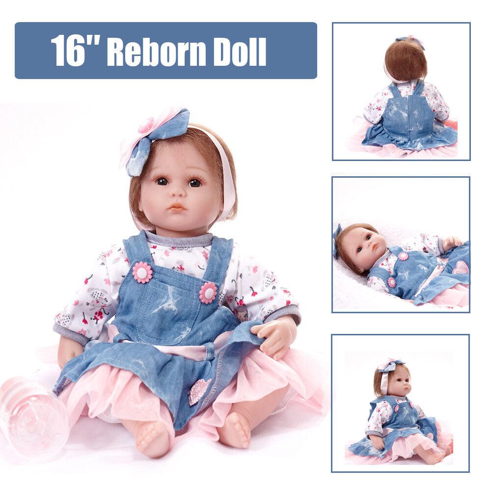 Soft Touch Girl Magic Eyes Puppe Lebensecht Reborn Baby Spielzeug