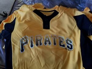 d1b5ead0069 New Majestic Cool Base Pirates Med Youth Baseball Little League 2 ...