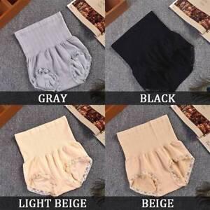 Womens-Briefs-Knickers-Lace-Trim-High-Waist-Ladies-Pants-Underwear