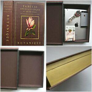 Large-Book-Safe-Tableau-Encyclopedique-Et-Methodique-Wooden-Botanique