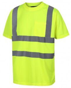 Traega-TTS11-Hi-Vis-Visibilita-Sicurezza-Abbigliamento-Lavoro-Manica-Corta