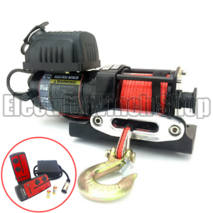Warrior Ninja 2000lb 24v Winch with Synthetic Rope & Wireless Control