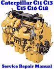 Caterpillar C11 C13 C15 C16 C18 CAT ACERT Engine Service Repair Manual - ON CD
