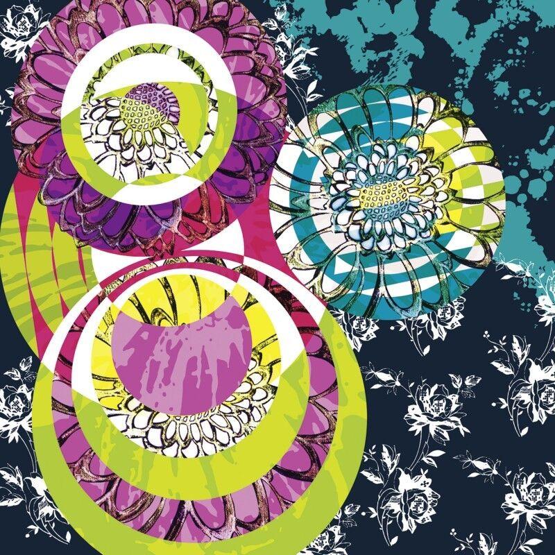 Poster oder Leinwand Leinwand Leinwand Bild Jule Abstrakte Motive Muster Digitale Kunst Bunt C0EU 3652ba