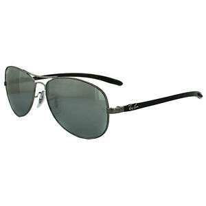 Ray-ban Sunglasses 8301 004/k6 Shiny Gunmetal Grey Polarized Kleidung & Accessoires