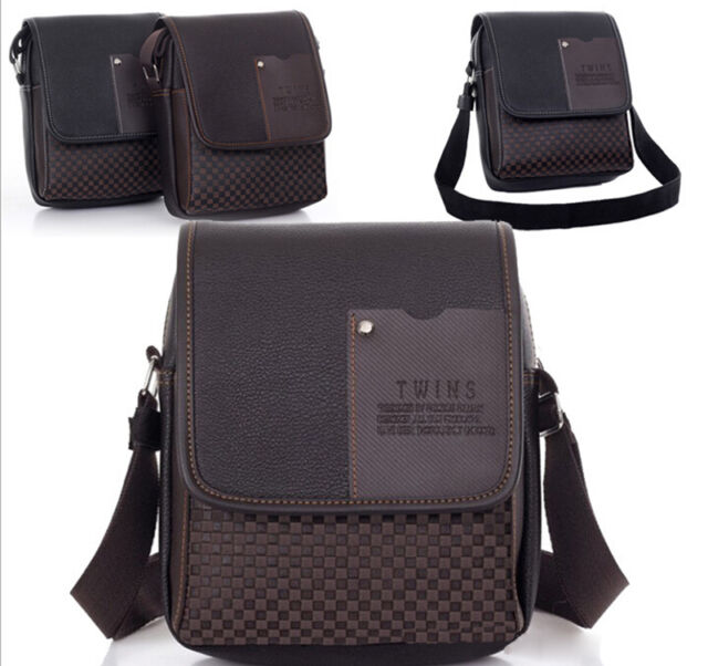 New Men's Leather Bag Man Briefcase Casual Business Shoulder Messenger Handbag