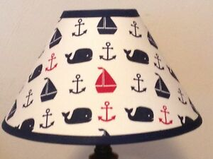 Hamptons Whale Fabric Nursery Lamp Shade M2m Pottery Barn