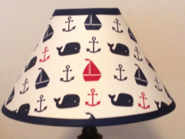 Hamptons Whale Fabric Nursery Lamp Shade M2m Pottery Barn