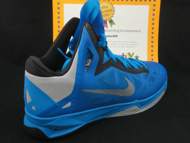 sports shoes 7aec1 bd9ca Nike Zoom Hyperchaos, Photo Blue   Wolf Grey   Black, Size 13