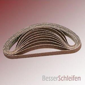 Schleifband 10,5 x 62 cm Holz mittel Körnung G60 3x für Bandschleifer AEG