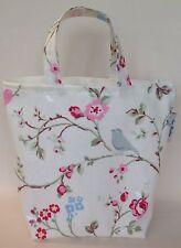Lunch bag mini tote Zipped In Bird Trail Oilcloth