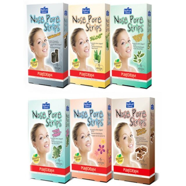 [6 TYPE] PUREDERM Nose Pore Strips Beauty Cleansing BLACKHEAD REMOVAL 1P 6 Sheet