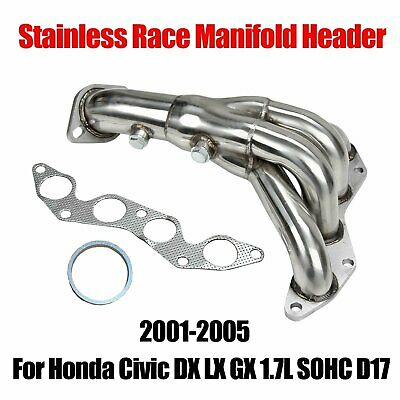 For 2001-2005 Civic EX 1.7L SOHC Racing Stainless Steel Manifold Exhaust Header