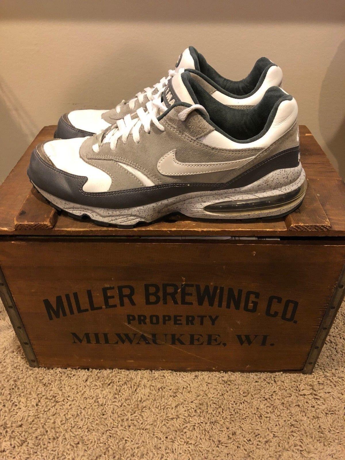 NIKE AIR MAX BURST Leather Grey White Graphite (305608-011) US 8 —BRAND NEW