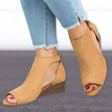 7ecb4b13b65 item 5 Women Mid Heels Wedge Espadrilles Open Toe Sandals Ankle Strap  Buckle Shoes Size -Women Mid Heels Wedge Espadrilles Open Toe Sandals Ankle  Strap ...