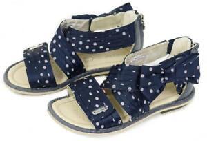 e85e3d2430e932 GEOX Girls Gladiator Sandals Navy Bow Polka Dot Shoes ~ 29 Euro - 11 ...