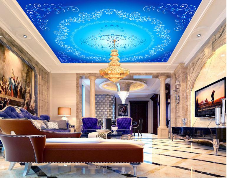 3D Blaues Muster 6833 Fototapeten Wandbild Fototapete BildTapete DE Lemon