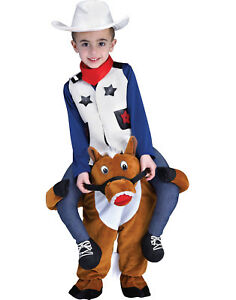 Image is loading Carry-Me-Horse-Boys-Child-Funny-Cowboys-Halloween-  sc 1 st  eBay & Carry Me Horse Boys Child Funny Cowboys Halloween Costume | eBay