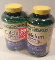 Spring Valley - Calcium 600 Mg W/ Vitamin D3 - Twin Pack - 250 Tablets Ea - 2018