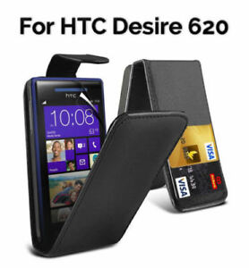 Luxury-Magnetic-Leather-Flip-Cover-Case-For-HTC-Desire-620-Black