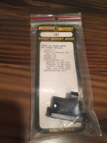 SEARS WEAVER #147 PIVOT MOUNT BASE-NOS-RUGER 44 ENFIELD WINCHESTER