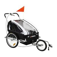 Confidence 2-in-1 Double Baby/child/kids Bicycle Bike Trailer /jogger