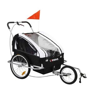 Confidence 2-in-1 Double Baby/Child/Kids Bicycle Bike Trailer ...
