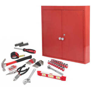 Details about Hyper Tough 151-Piece Hand Tool Set, Metal Wall Cabinet