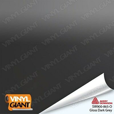 Avery SW900-865-O GLOSS DARK GREY Vinyl Vehicle Car Wrap Decal Film Sheet Roll