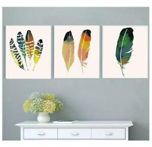 Paint By Numbers Kits Initiative 3pc Bird Feather Paint By Number Kits Diy 16x20'' Acrylic Patint On Canvas 1885 Making Things Convenient For The People Crafts