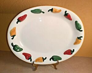 Clay-Art-Chili-Peppers-El-Paso-Oval-Serving-Platter-Embossed-Peppers-17-1-4-034-EC
