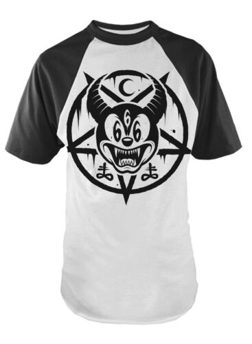 MICKEY 666  Baseball  T-Shirt Darkside Occult Collection Goth Rock