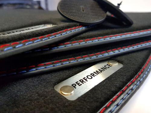 4 Klett Performance Fußmatten für BMW X3 F25 Auto-teppiche Metal Logo Velours