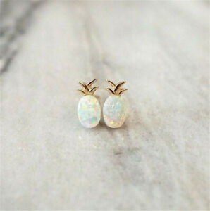 Details About 925 Silver Opal Ear Studs Pinele Animal Earrings Clips Women Gift Jewelry